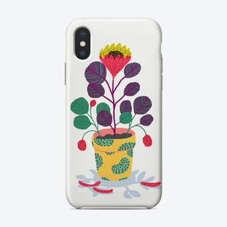 Plant With Pink Flowers Phone Case