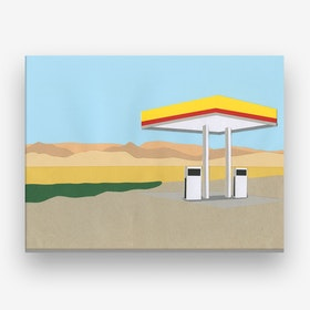 Gas Station Death Valley Canvas Print