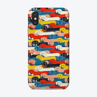 Dachshund Pattern Phone Case