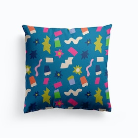 Blue Candy Explosion Cushion