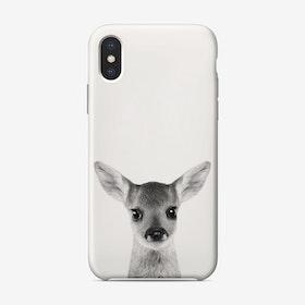 Fawn B&W iPhone Case
