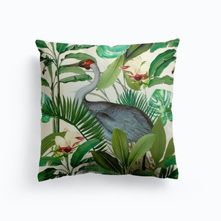 Tropical Heron Cushion