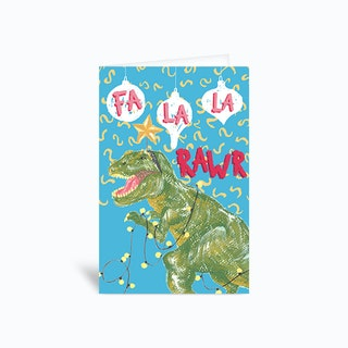Fa La La Rawr Sambull Greetings Card