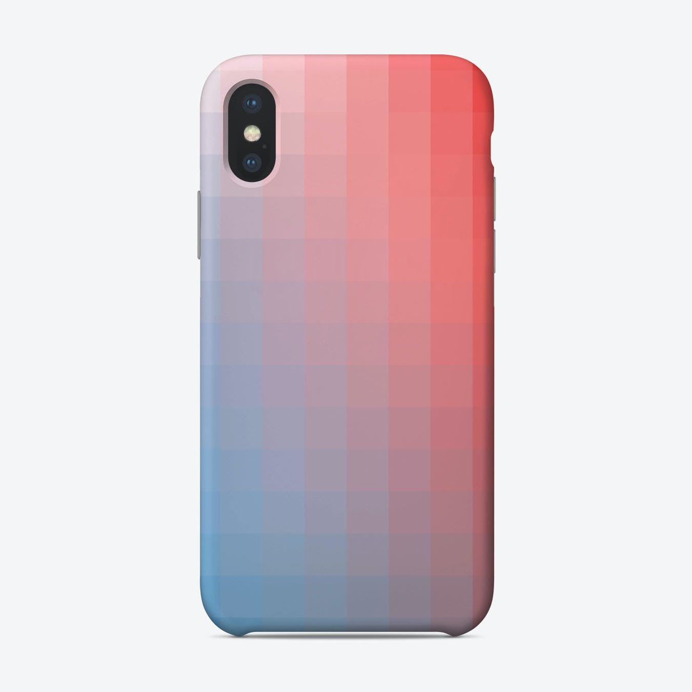 Lumen 15, Red, White And Blue Gradient Iphone Phone Case