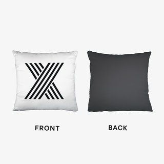 Black Letter X Cushion