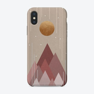 Sun And Mountains Coral Pink Phone Case