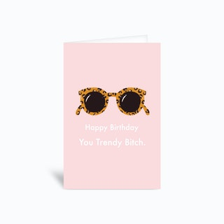 Trendy Bitch Greetings Card
