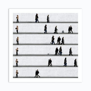Wall People Detail 11 Art Print