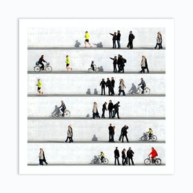 Wall People Detail 1 Art Print