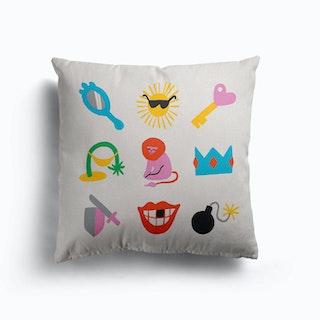 Leo Symbols Canvas Cushion