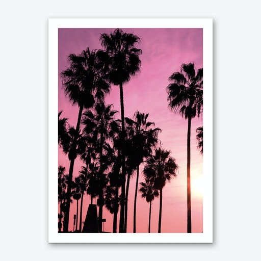 Pink Los Angeles Art Print