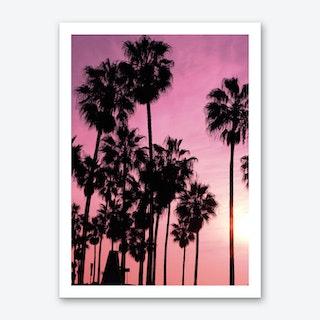 Pink Los Angeles Art Print