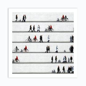 Wall People Detail 8 Art Print