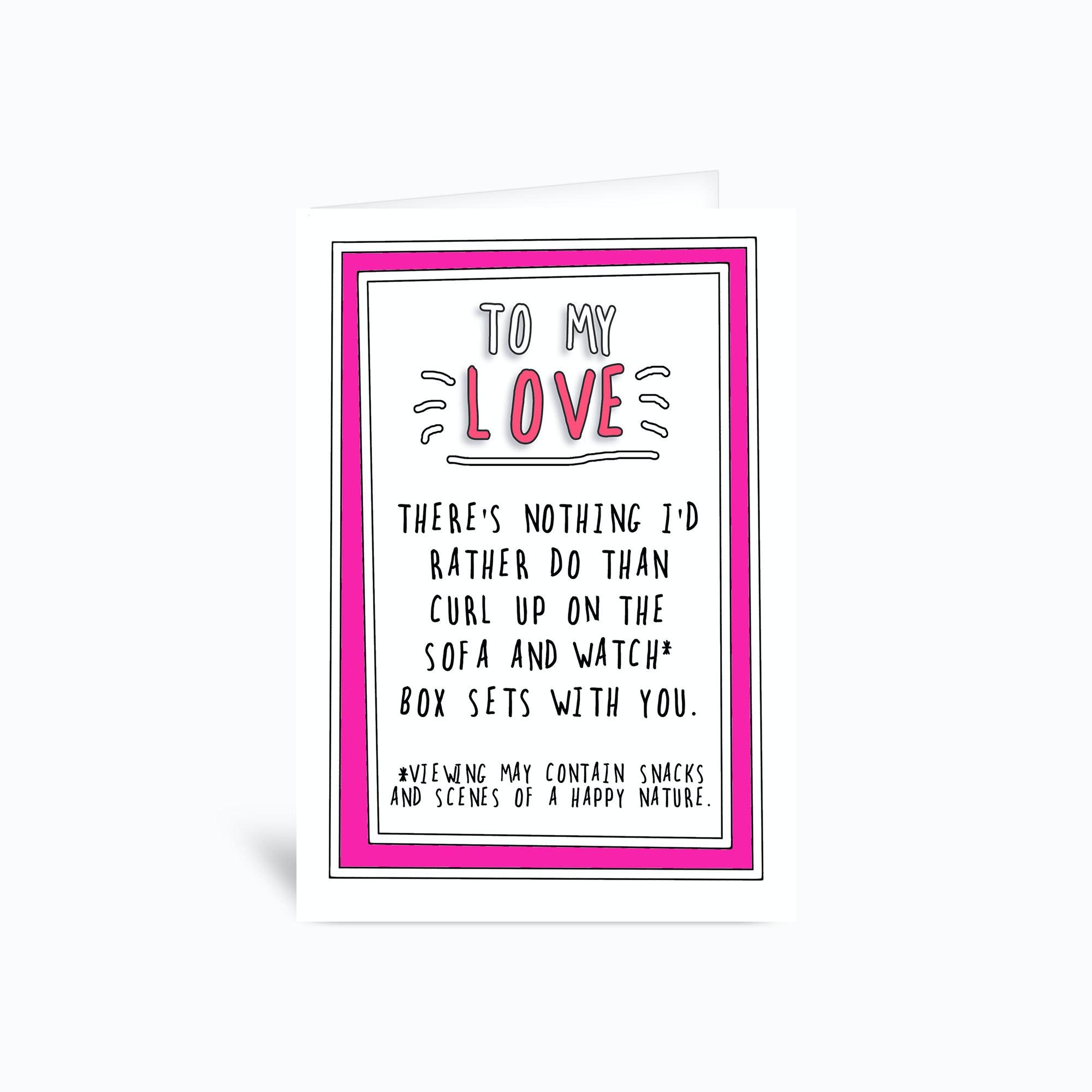 Netflix Love Greetings Card