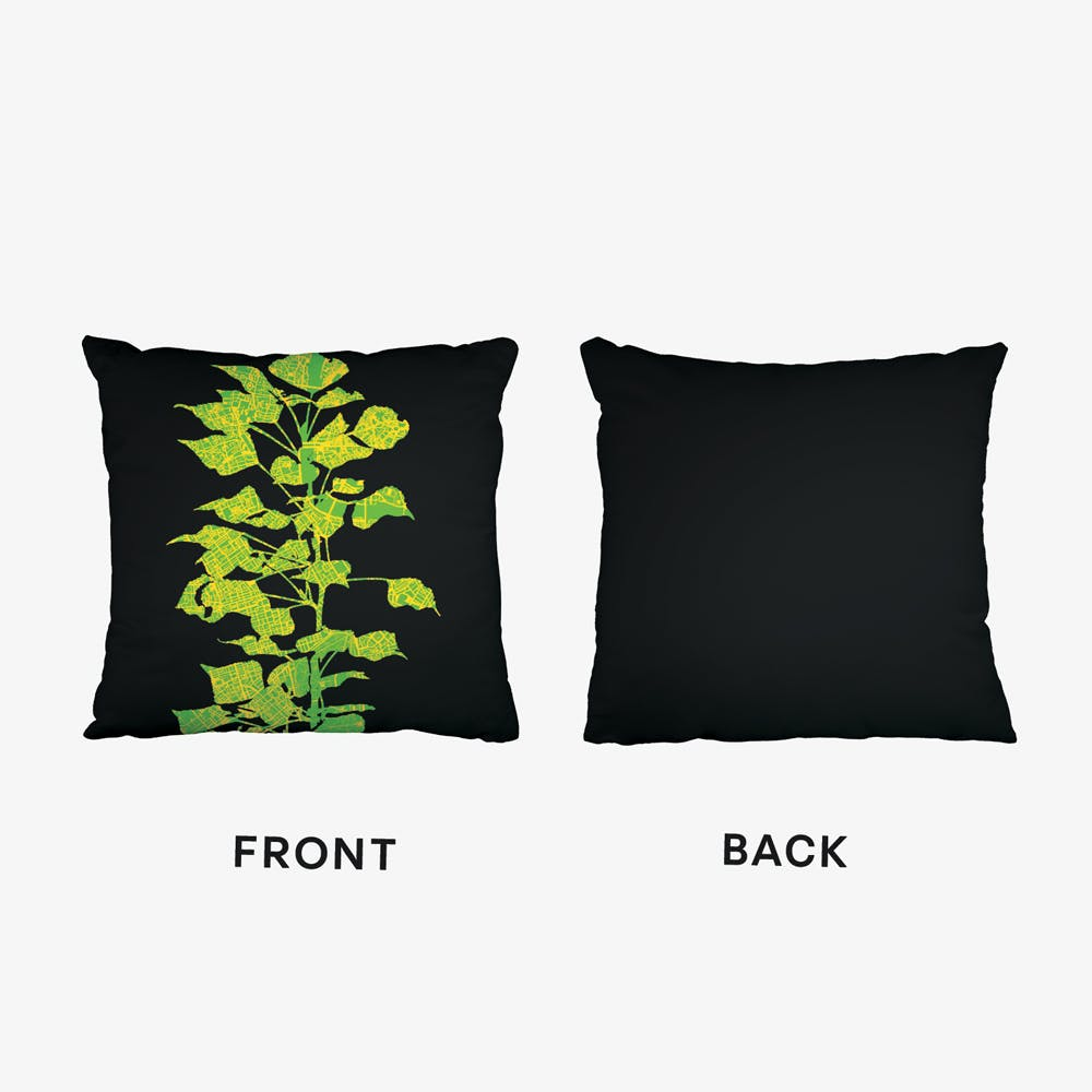 Populus London Black Cushion