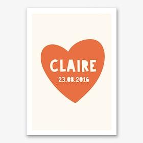 Heart Name Personalised Art Print