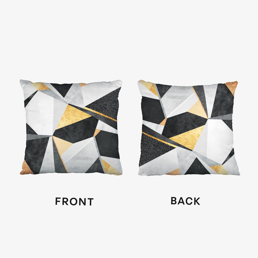 Geometry Gold Cushion