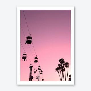 Pink Santa Cruz Art Print