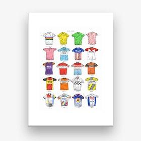 Cycling Jerseys Canvas Print