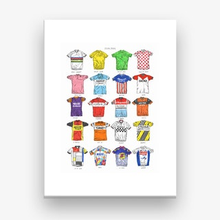 Cycling Jerseys Canvas Art Print