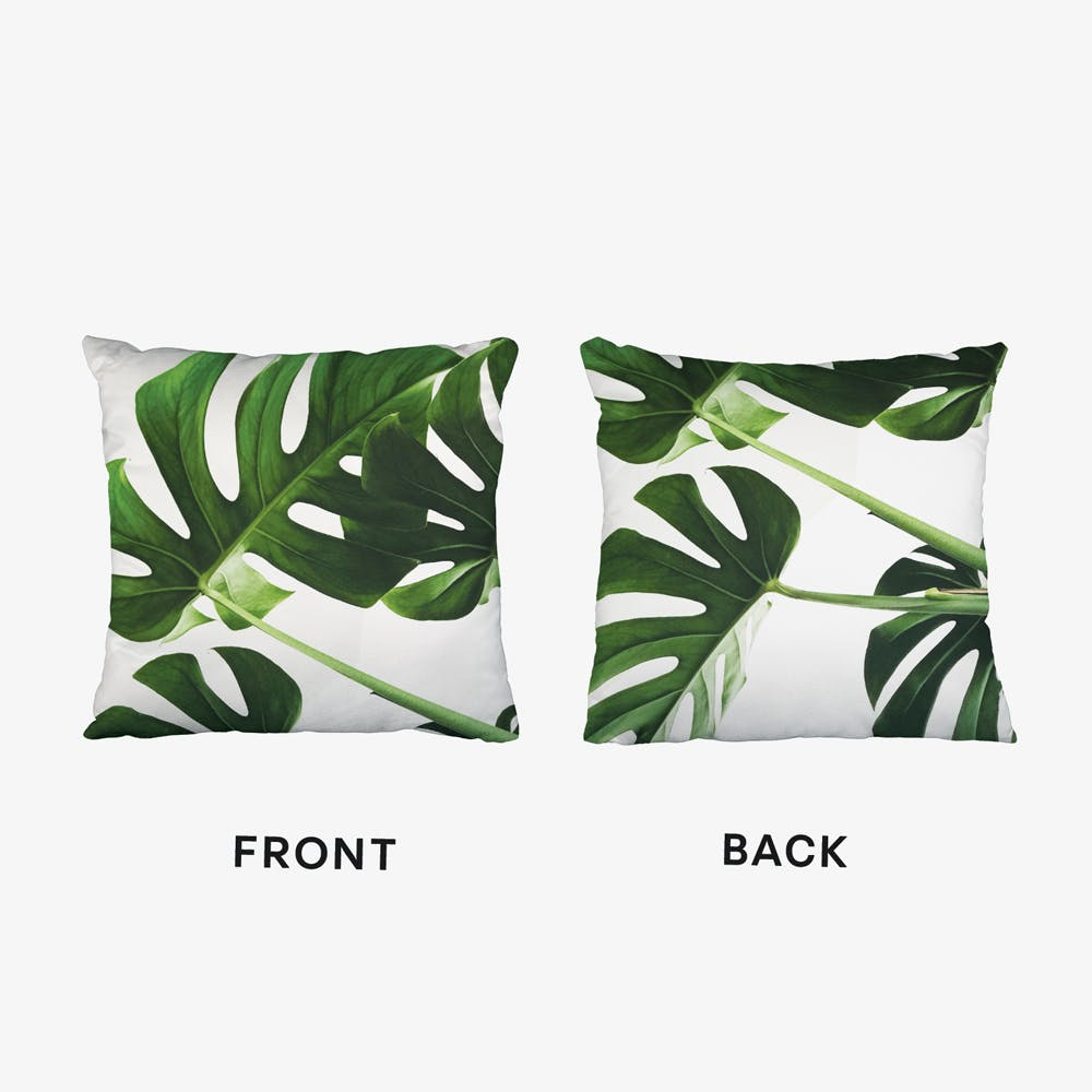 Monstera Leaves Cushion