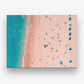 Aerial Beach Brush Strokes Landscape Canvas Print