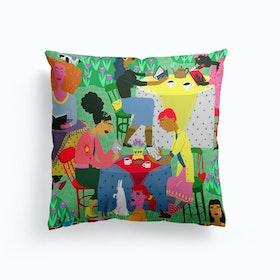 Spring Reading Club Cushion