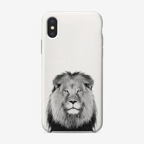 Lion B&W iPhone Case