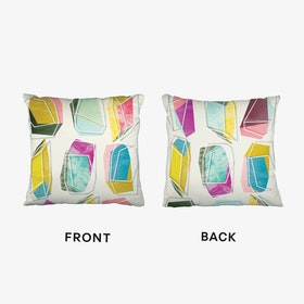 Colours And Crystals 01 Cushion