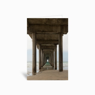 Scripps Pier Greetings Card