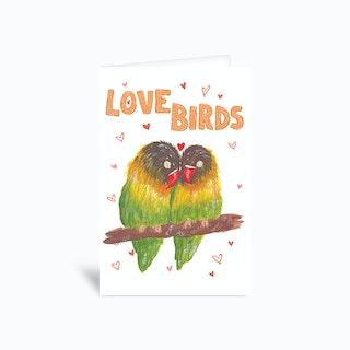 Love Birds Sambulll Greetings Card
