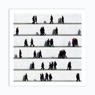 Wall People Detail 9 Art Print