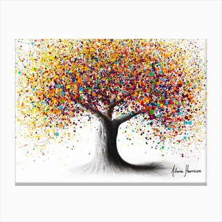 Rainbow Soul Tree Canvas Print