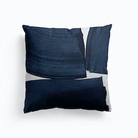 Minimalist Painting Blue I Cushion