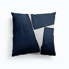 Minimalist Painting Blue Iii Cushion