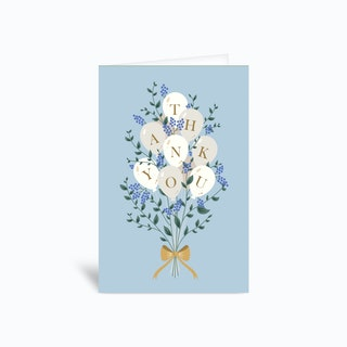 Thank You Blue Greetings Card