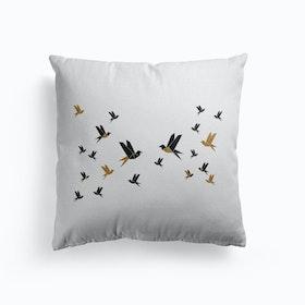 Origami Birds Collage Iii Cushion