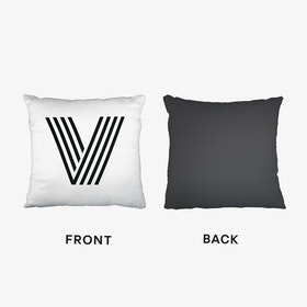 Black Letter V Cushion