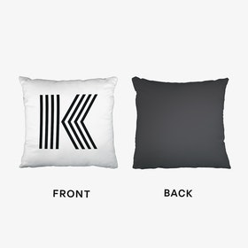Black Letter K Cushion