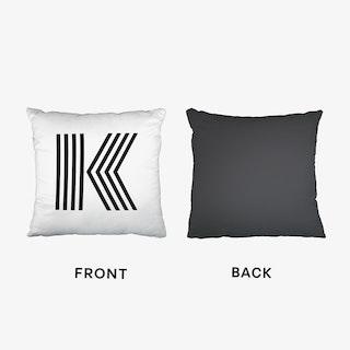 Black Letter K Cushion