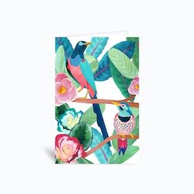 Birds of Spring Greetings Card