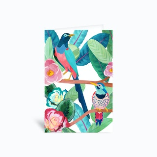 Birds of Spring Greetings Card