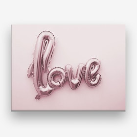 Love Pink Balloon Canvas Print