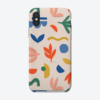 Abstract Leaves Bright Phone Case