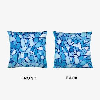 Blue Ice Cushion