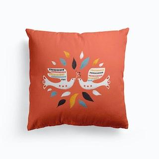 Festive Doves Cushion