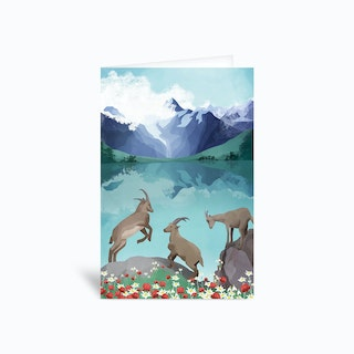 The Hills Are Alive Greetings Card