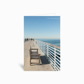 Hermosa Beach Seat Greetings Card