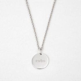 Secret Code Necklace 'EWBO' White Gold