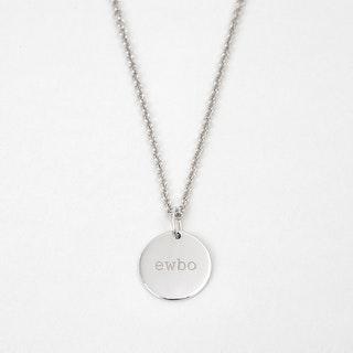 Secret Code Necklace 'EWBO' White Gold